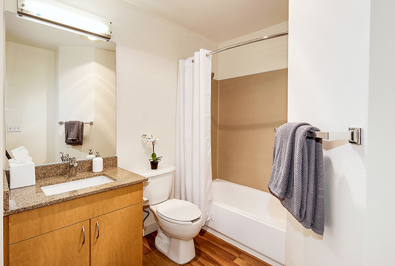 Spacious Bathroom Layouts At Westwater Apartments in Kirkland, WA
