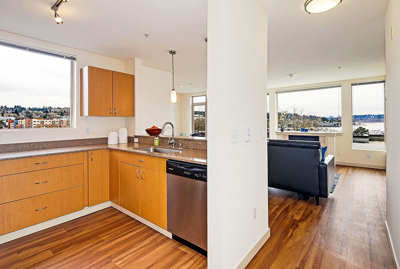 Open Concept Layouts At Westwater Apartments in Kirkland, WA