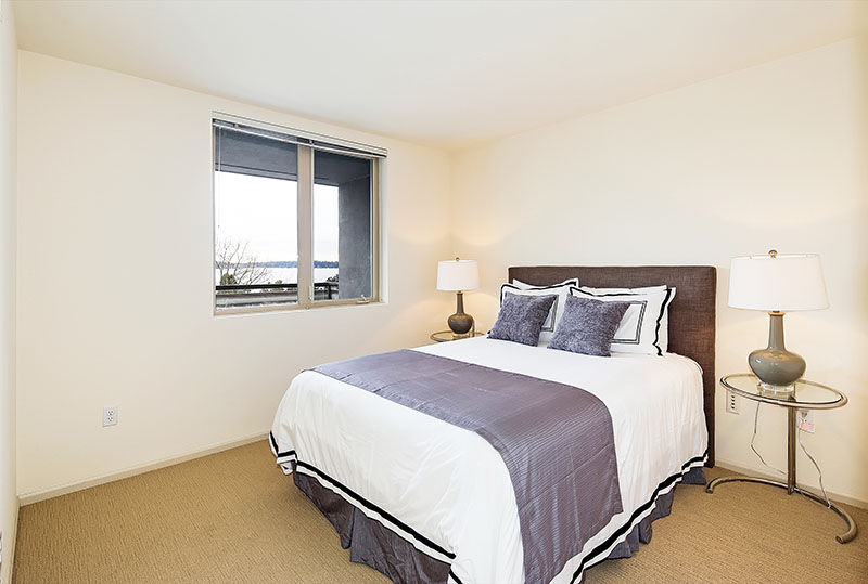 Spacious Bedrooms At Westwater Apartments in Kirkland, WA
