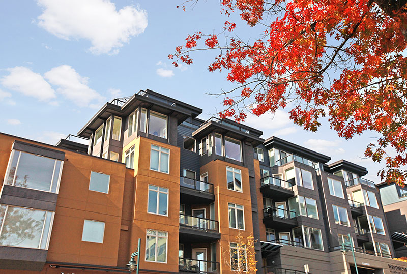 Exterior Building View Of Westwater Apartments in Kirkland, WA