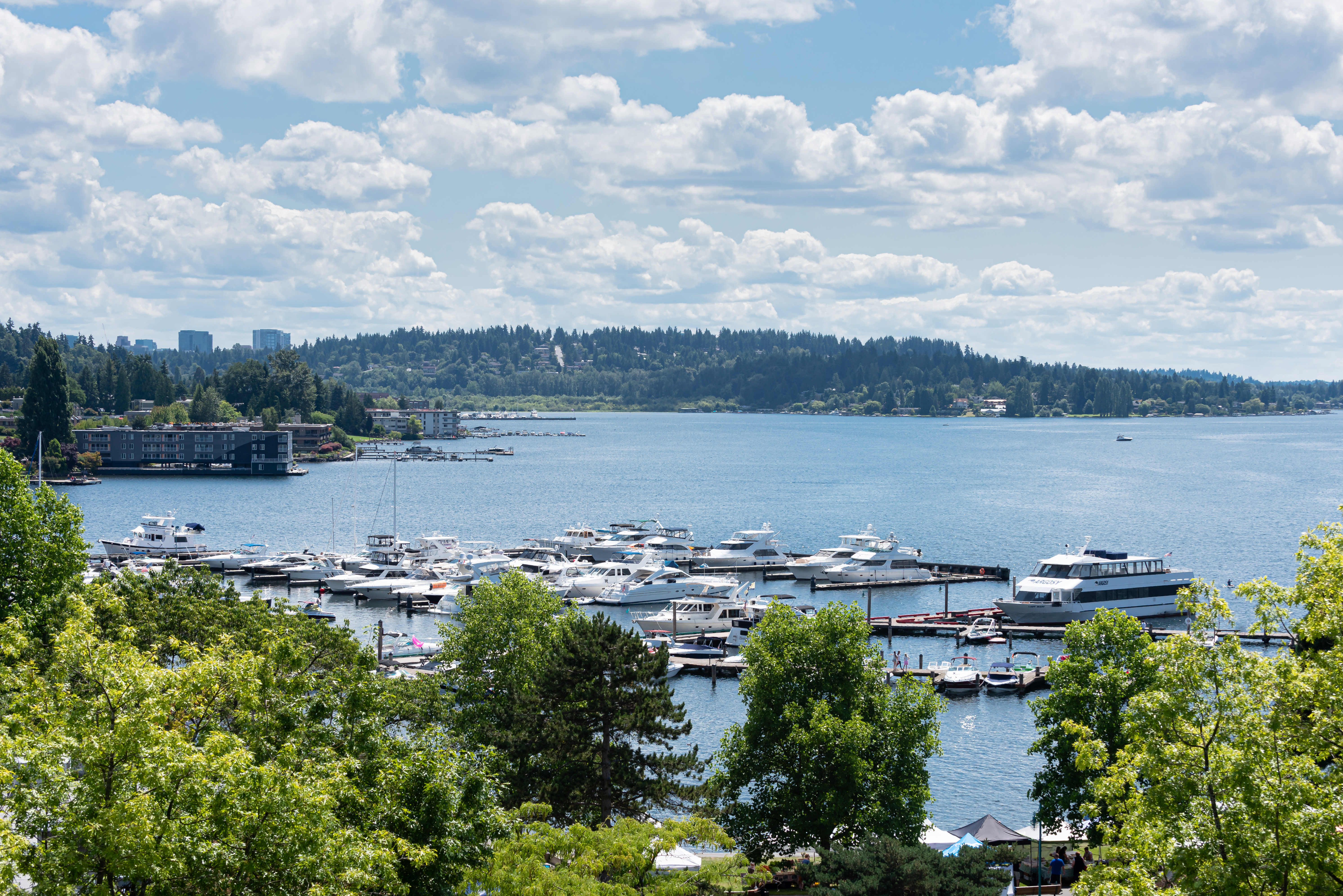Water Views From Westwater Apartments in Kirkland, WA